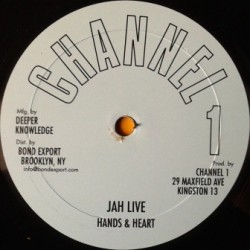 Hands & Heart - Jah Live 10''