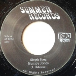 Bumpy Jones - Simple Song 7""