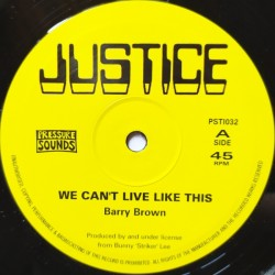 Barry Brown - We Can't Live...