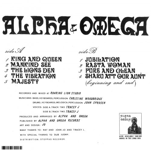 Alpha and Omega King And Queen Back Cover
